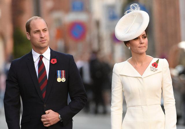 Кейт Миддлтон в элегантном белом наряде посетила памятное мероприятие в Бельгии