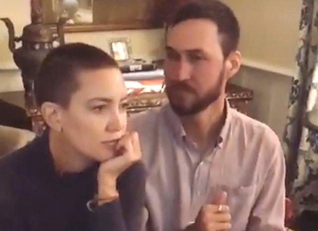 И все-таки не парик: Кейт Хадсон показала свою обритую голову
