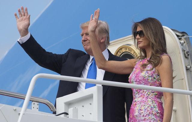 Мелания Трамп в розовом платье за 1800 долларов покорила летним образом