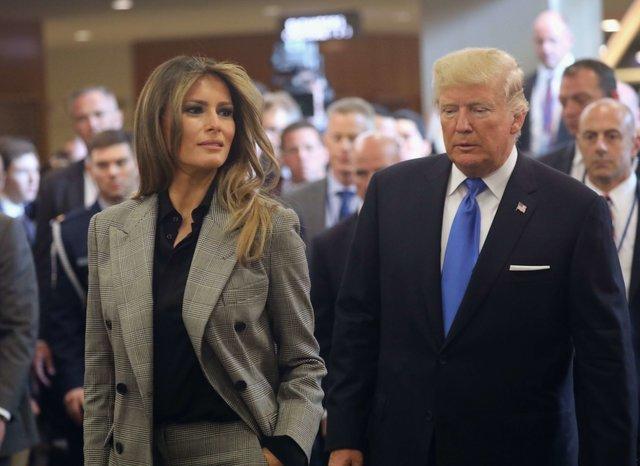 Модная битва первых леди: Мелания Трамп и Бриджит Макрон встретились на заседании ООН