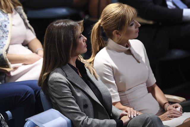 Мелания Трамп появилась в штаб-квартире ООН в костюме от Ralph Lauren