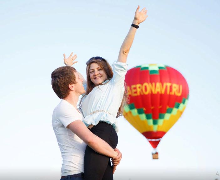 Полет на воздушном шаре на двоих: возможность признаться в любви своей половинке