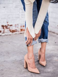 С чем носить туфли на каблуке?