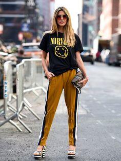 Желтые спортивные штаны: тренд 2021