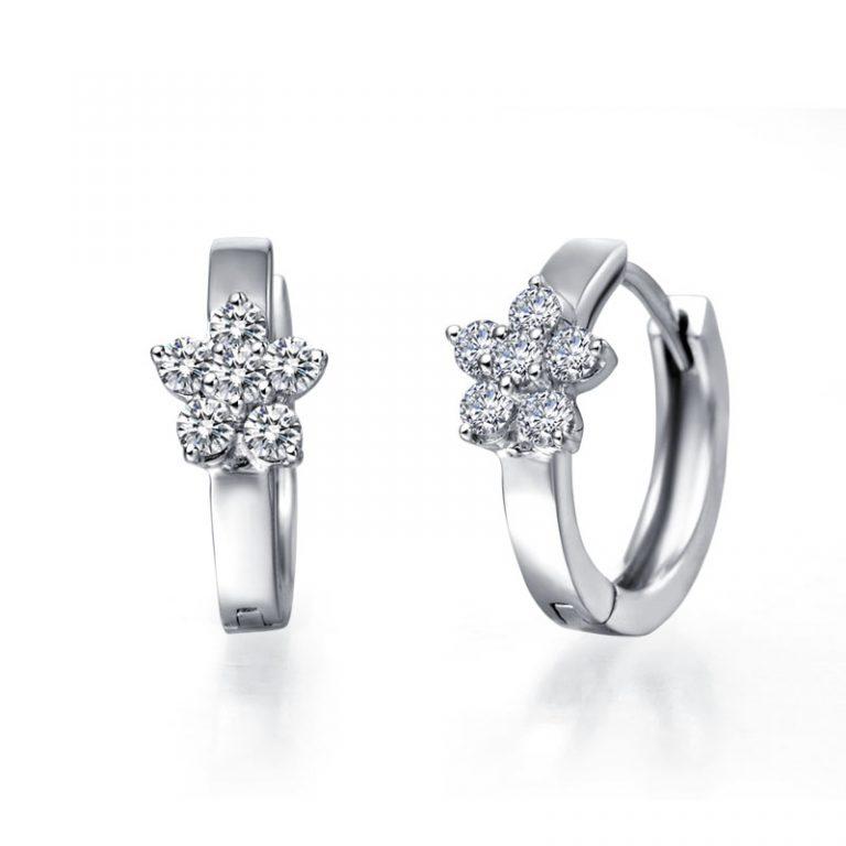 Выбор сережек с бриллиантами