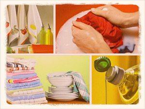 Как и чем отбелить кухонные полотенца