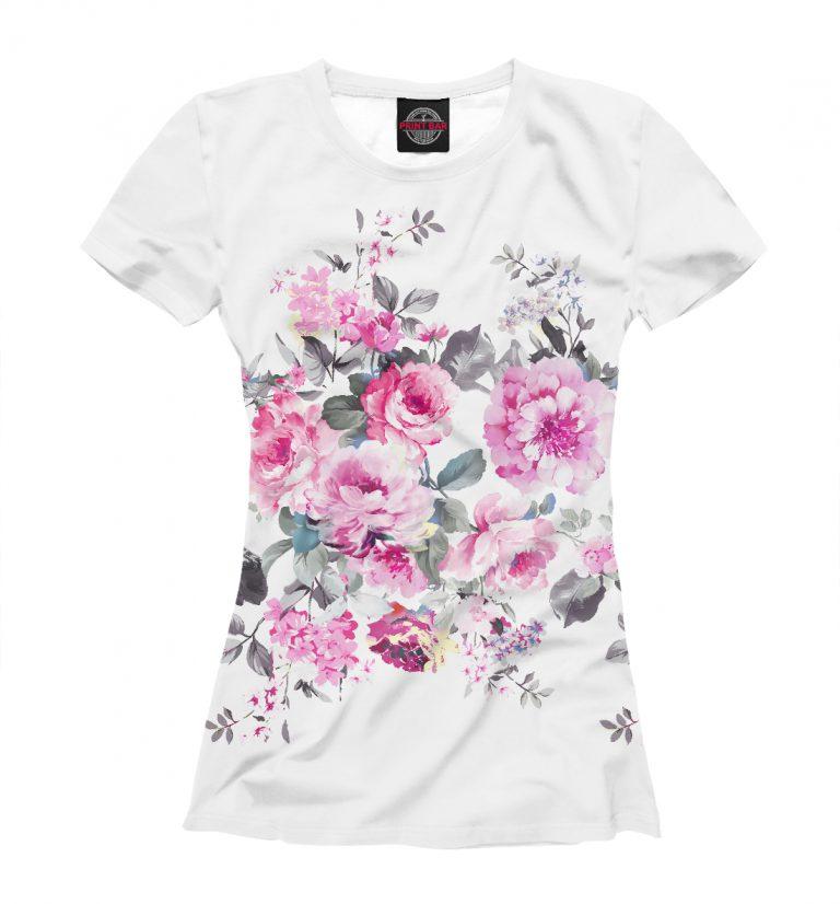 Какими бывают принты роз на футболках